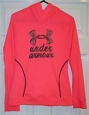 Under Armour - Long Sleeve Hooded Top - Orange - Size M (age 10-12 years)