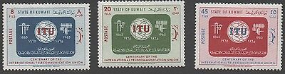 Kuwait stamps.   1965 The 100th Anniversary of I.T.U.. MH