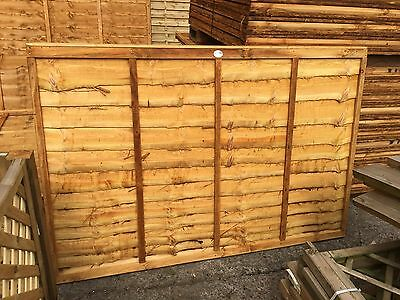 Brand New 6ft x4ft Larch Lap Fence Panel Garden Wooden Fencing RRP £22