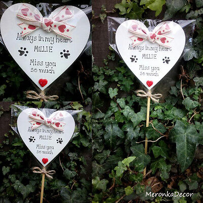 Always in my heart- PET MEMORIAL-Dog-Cat Grave Personalised Plaque