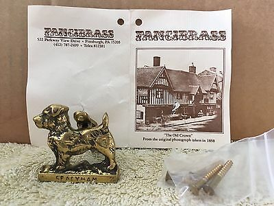 Vintage Brass door knocker Sealyham Dog Terrier