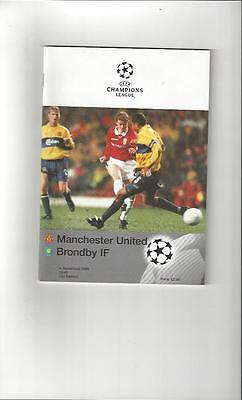 Manchester United v Brondby Champions League Football Programme 1998/99