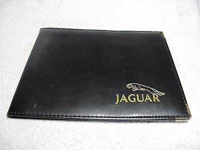JAGUAR XJ  driver hand book and black leather  wallet