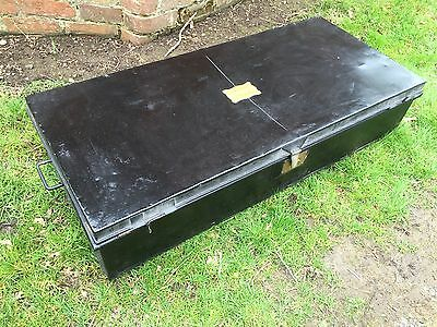 Earl of Feversham Duncombe Park Country House Metal Military Trunk Chest Box
