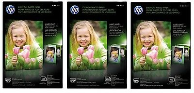 3 Boxes - HP Everyday Photo paper - Glossy - 100 Sheet Per Box