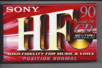 SONY HF 90 Blank Audio C90 Cassette NEW & SEALED!!! 6 Available