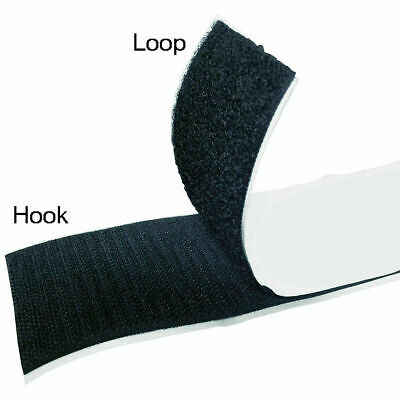 """Hook and Loop Sticky Adhesive Backed Tape - Widths: 1/2"""", 1"""", 2"""", 3"""", 4"""""""