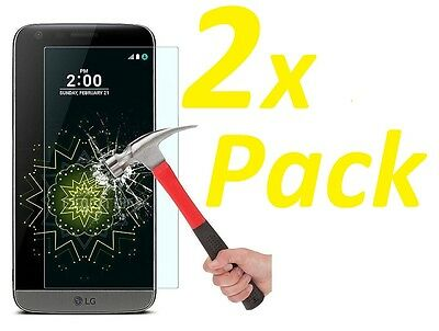 2x NEW BALLISTIC GRADE PREMIUM REAL TEMPERED GLASS SCREEN PROTECTOR FOR LG G5
