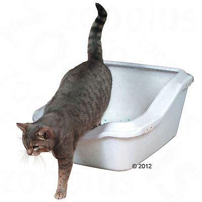 Trixie Cleany Cat Open Litter Tray Cats Pets Toilet Kitten Box Filterless Deep