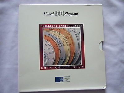 1991 Royal Mint Brilliant Uncirculated Coin Collection Year Set