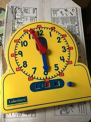 Lakeshore Resources  Learning to tell time plastic clock kids school Large