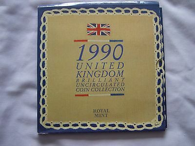1990 Royal Mint Brilliant Uncirculated (Specimen) Coin Collection Year Set