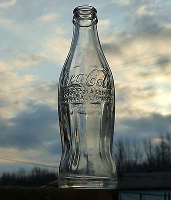 Pre-1931 Canadian Dominion Glass COCA-COLA hobble skirt soda bottle FREE SHIP!