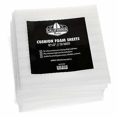 "12""x12"" Cushion Foam Sheets, Packing Supplies, Safely Wrap Dishes, 50 Pack"