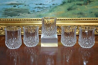5 Matching Set Quality Cut Crystal Shot Liqueur Glasses Tumbler Christmas Gift