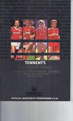 Liverpool v Manchester United FA Charity Shield Football Programme 1990