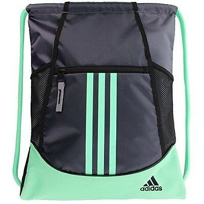 adidas Alliance II Sackpack, One Size, Deepest Space/Green Glow