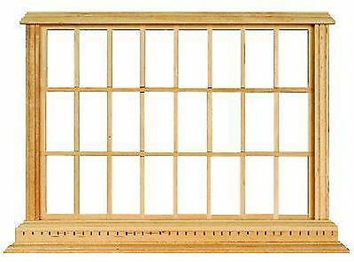 1:12 Scale Georgian 24 Pane Window Frame Dolls House Miniature Accessory 182