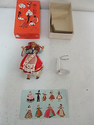 "Vintage Flexible Flagg Play Doll ""Norway"" w/ Box Stand & Card (Lot-JU25-43)"