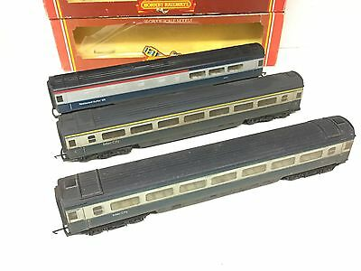 Hornby OO Gauge Mk 3 HST Intercity 125 Coaches Blue/Grey Livery (Weathered) x3