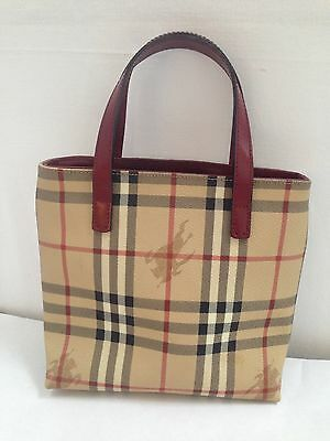 BURBERRY LONDON Ladies NOVA CHECK  PVC / Leather small bag / handbag