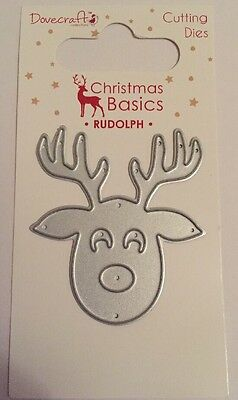 Dovecraft Cutting Dies Christmas Basics Rudolph 1 Die New/Sealed