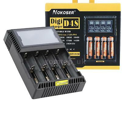 Digitale LCD Smart Batteria Charger Caricabatterie AA/AAA Li-ion Ni-MH/NiCd F3M8