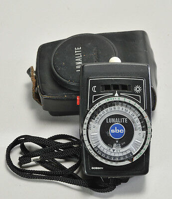Used Gossen Lunalite Light Meter With Case and Strap In Great Condition
