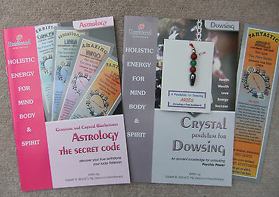 ARIES - Handmade birthstone pendulum for Dowsing plus 2 great books & a bookmark