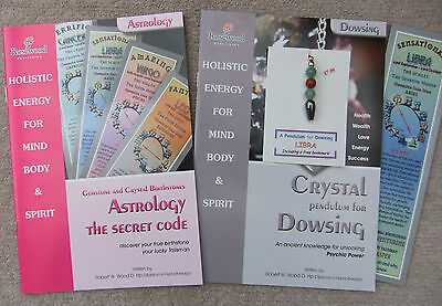 LIBRA - Handmade birthstone pendulum for Dowsing + 2 great books & a bookmark