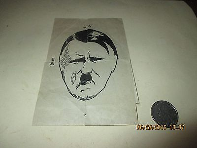Original Wwii Homefront Childrens Comic Paper Hitler Pig Puzzle Game