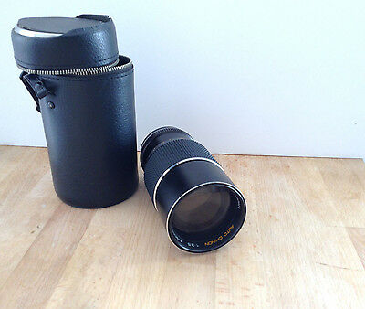 Auto Chinon 1.35 Camera Vintage SLR Lens Only with case Japanese