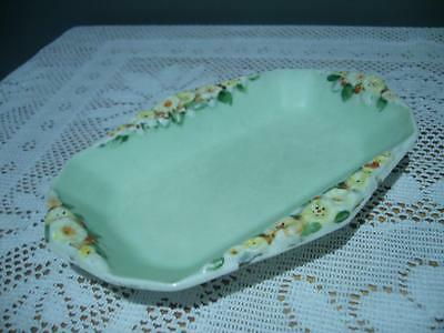 Plant Tuscan China England Lovely Embossed Trinket / Butter / Jam Dish - Gc