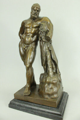 Hercules Ancient Greek,Gold Bronze Statue Art  Figurine Sculpture Extra Large Pi