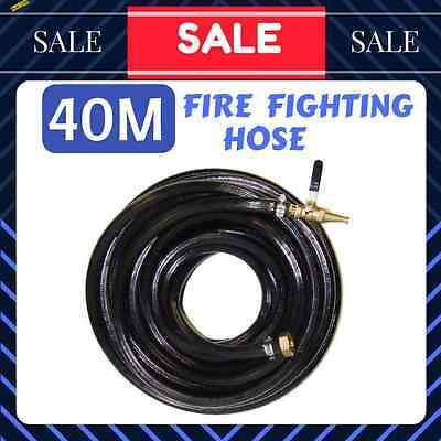 "40M Fire Fighting Hose 3/4"" High Pressure Inc Brass Fittings For Water Pump"
