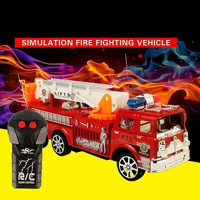 Remote Control RC Rescue Fire Engine Child Toy Gift Kids Radio Fire Ladder Truck