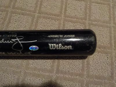 Andruw Jones Game Used bat with Braves