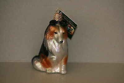 Sheltie  Dog  Old World Christmas glass ornament