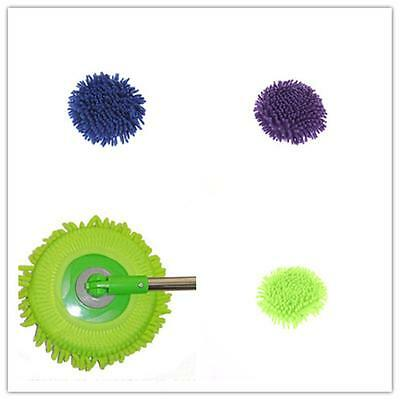 Mophead Refill 360°Spin Mop Head Absorbent Microfiber Round Moptop