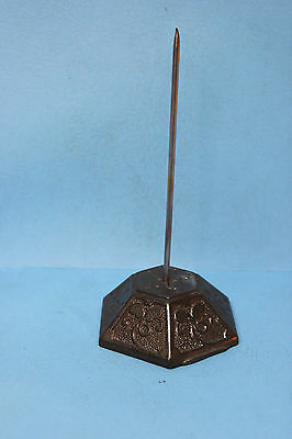 Vintage Country Store Desk Invoice Bill Spindle Spike Pin - Victorian Design