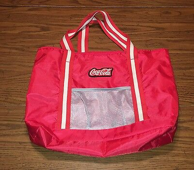 Vintage Red and Gray Coca-Cola Purse Tote Collectible