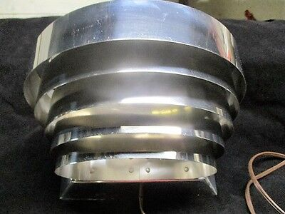 Vintage Art Deco Polished Stainless Steel 5 Tier Layered Wall Sconce Lamp Light