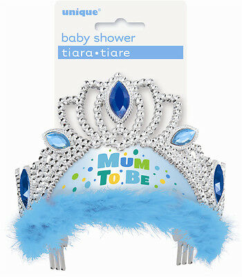 Mum To Be Tiara - Blue Party SuppliesBaby Shower Favours Decorations