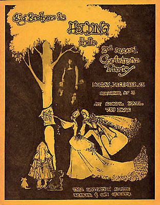 Big Brother and the Holding Co. Christmas Party Invitation Handbill Janis Joplin