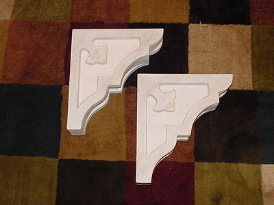 One Pair Wood Corbels..  10-1/2 x 12..  Free Shipping