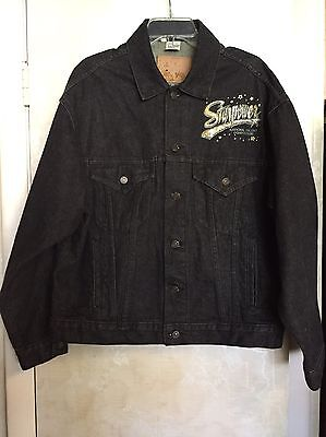 Dancer Black Jean Jacket Starpower Dance/Talent Competition Sz L-Oversized