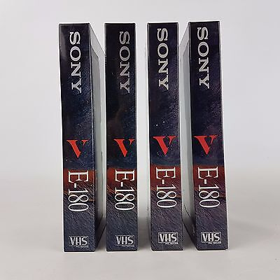 Sony E-180Ve Blank VHS Tapes, pack of 4 | HIGH QUALITY | FAST POST