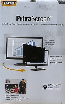 """FELLOWES PrivaScreen 24"""" Widescreen Blackout Privacy Filter"""