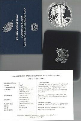 USA: American Eagle One Ounce Silver Proof Coin 2016, 30th Anniversary