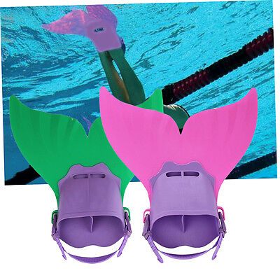 Swimming Costume Kids Swimmable Monofin Mermaid tail Mono Fin Flippers F2
